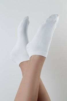Kotníkové ponožky z biobavlny - bílá