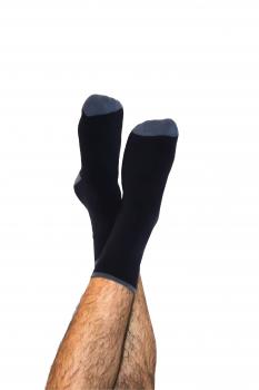 Klasické ponožky z biobavlny - tmavě modrá