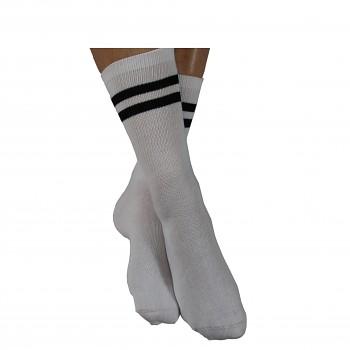 Tenisové ponožky z biobavlny - bílá/černá