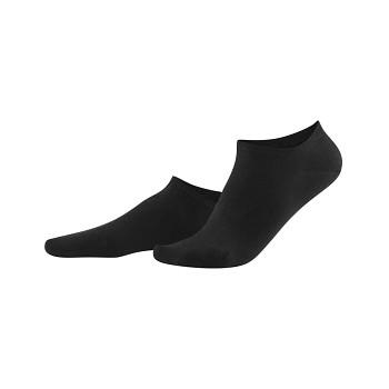 ABBY dámské kotníkové ponožky z biobavlny - černá (2 páry)