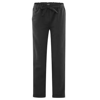GILL dámské kalhoty z bio lnu a bio bavlny - černá