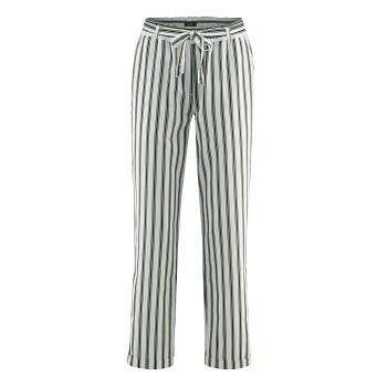 GILL dámské kalhoty z bio lnu a bio bavlny - bílá/amazonas