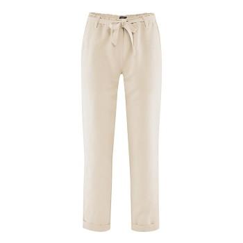GILL dámské kalhoty z bio lnu a bio bavlny - písková