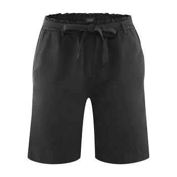GABY dámské šortky z bio lnu a bio bavlny - černá