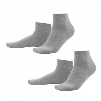 CURT pánské ponožky z biobavlny - světle šedá stone (2 páry)