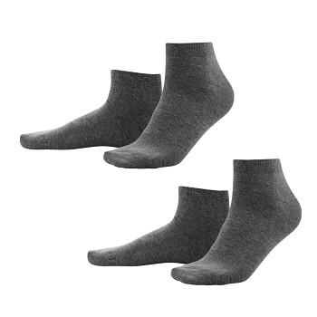 CURT pánské ponožky z biobavlny - tmavě šedá antracit (2 páry)