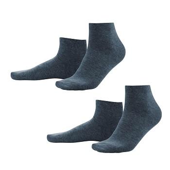CURT pánské ponožky z biobavlny - tmavě modrá dark navy (2 páry)