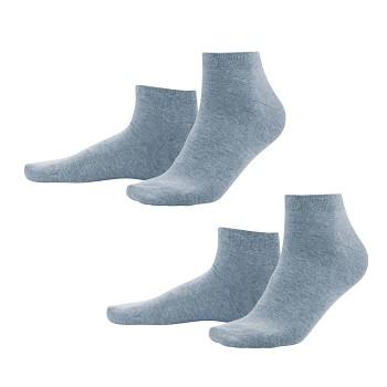 CURT pánské ponožky z biobavlny - světle modrá infinity (2 páry)