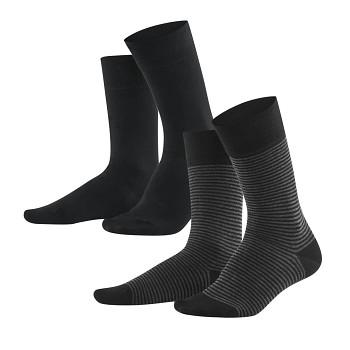 ARNI pánské ponožky z biobavlny - černá/antracit (2 páry)