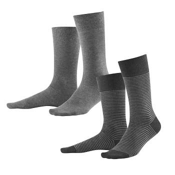 ARNI pánské ponožky z biobavlny - šedá stone/antracit (2 páry)