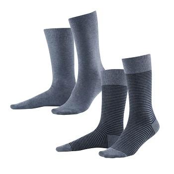 ARNI pánské ponožky z biobavlny - modrá infinity/skyway (2 páry)