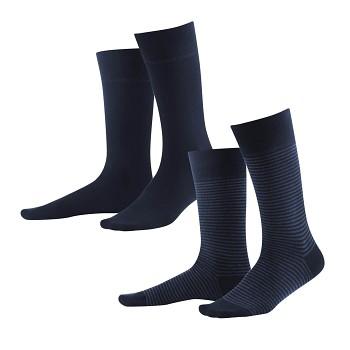 ARNI pánské ponožky z biobavlny - tmavě modrá navy/indigo (2 páry)