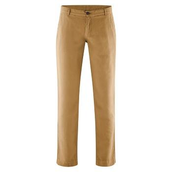 GILBERT pánské kalhoty z bio lnu a bio bavlny - hnědá tobacco