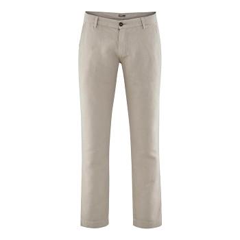 GILBERT pánské kalhoty z bio lnu a bio bavlny - béžová goat