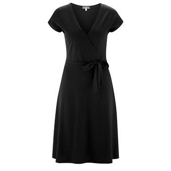 IVETTE Dámské šaty z bambusu a biobavlny - černá
