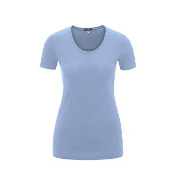 FRIEDA Dámské tričko s krátkými rukávy ze 100% biobavlny - světle modrá hortensia
