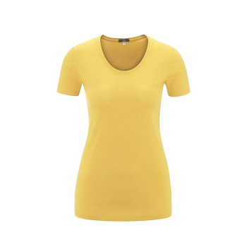 FRIEDA Dámské tričko s krátkými rukávy ze 100% biobavlny - žlutá mimosa