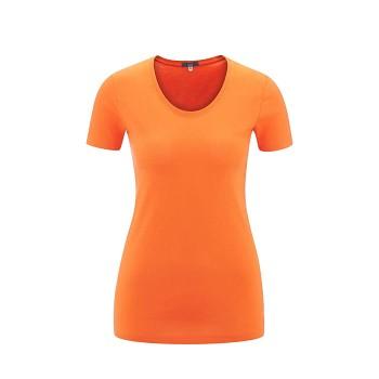 FRIEDA Dámské tričko s krátkými rukávy ze 100% biobavlny - oranžová peel