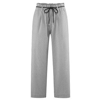 KATHLEEN dámské kalhoty ze 100% bio bavlny - bílá/černá