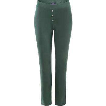 CAROL dámské pyžamové kalhoty ze 100% biobavlny - bílá/přírodní milky green