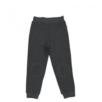 PIQUÉ dětské kalhoty ze 100% biobavlny - tmavě šedá antracit