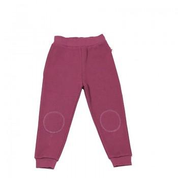 PIQUÉ dětské kalhoty ze 100% biobavlny - růžová