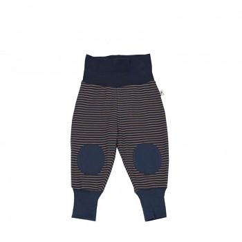 HAREM kojenecké kalhoty ze 100% biobavlny - zázvorová/indigo