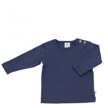 LANG dětské tričko ze 100% biobavlny - tmavě modrá indigo