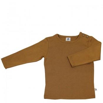 LANG dětské tričko ze 100% biobavlny - hnědá ingwer