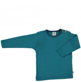 ASSOS dětské tričko ze 100% biobavlny - pruhovaná modrá donau/lapiz