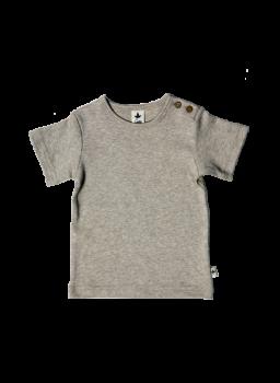 KURZ dětské tričko ze 100% biobavlny - béžová melanž