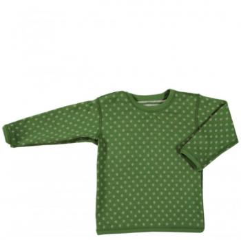WESERSTRAND dětské oboustranné tričko ze 100% biobavlny - zelená/přírodní