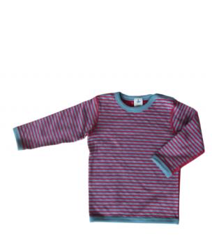 ISFAHAN dětské oboustranné tričko ze 100% biobavlny - červená/modrá