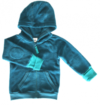 ASSOS dětská mikina s kapucí ze 100% biobavlny - modrá donau