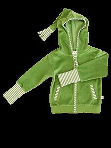 WESERSTRAND dětská mikinka s kapucí ze 100% biobavlny - lesní zelená