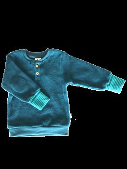 ASSOS Dětská mikinka ze 100% biobavlny - modrá donau