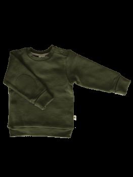 Dětská mikina ze 100% biobavlny - khaki tymián