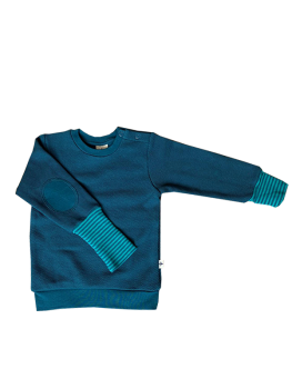 ASSOS Dětská mikina ze 100% biobavlny - modrá donau