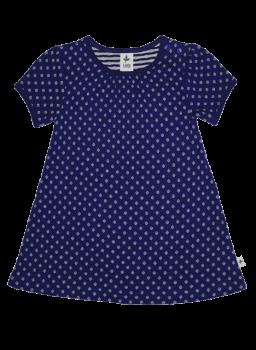 ZYPERN dívčí letní šaty ze 100% biobavlny - tmavě modrá