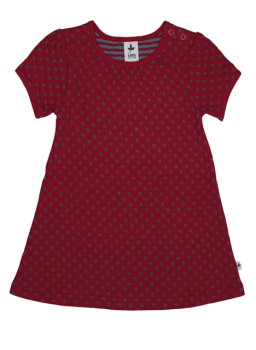ISFAHAN dívčí letní šaty ze 100% biobavlny - červená