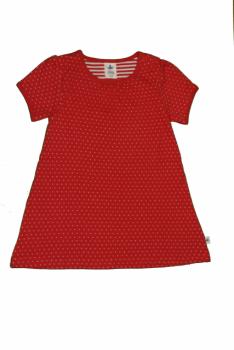 Dívčí letní šaty ze 100% biobavlny - červená ibišková