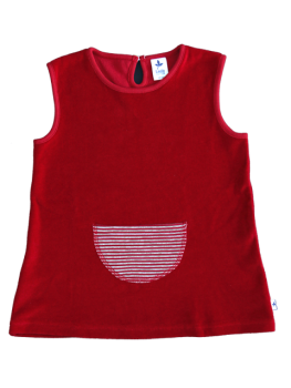 BREMER Dívčí letní šaty ze 100% biobavlny - červená