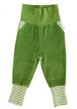 WESERSTRAND dětské kalhoty ze 100% biobavlny - lesní zelená