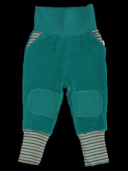 WATTENMEER dětské kalhoty ze 100% biobavlny - modrá ocean