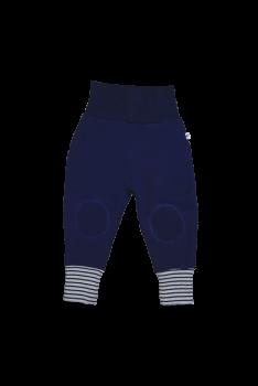 Kojenecké fleecové kalhoty ze 100% biobavlny - modrá marine
