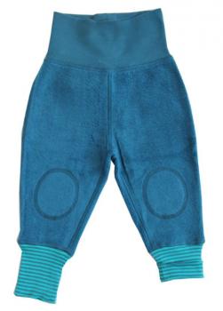 ASSOS Kojenecké fleecové kalhoty ze 100% biobavlny - modrá donau