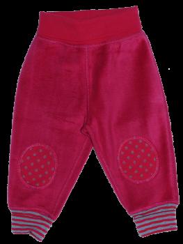 IFSAHAN Kojenecké fleecové kalhoty ze 100% biobavlny - perská červená