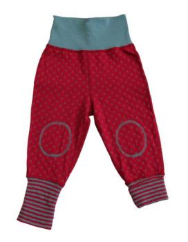 WENDE ISFAHAN oboustranné kojenecké kalhoty ze 100% biobavlny - červená/modrá