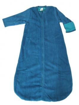 WENDE ASSOS oboustranný kojenecký spací vak ze 100% biobavlny - modrá donau/lapis