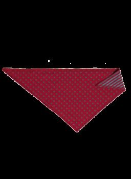 NICKY ISFAHAN dětský šátek ze 100% biobavlny - červená/modrá
